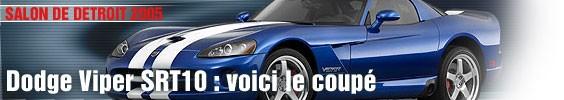 Dodge Viper SRT 10 : voici le coupé