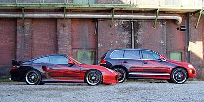 Edo s'attaque au Touareg et à la Porsche 996 Turbo