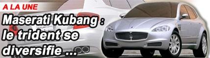 Maserati Kubang: le trident se diversifie