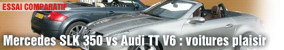 Essai Comparatif/ Mercedes SLK 350 vs Audi TT V6 : voitures