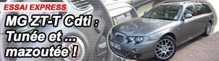 Essai / MG ZT Cdti Tourer : tunée et mazoutée