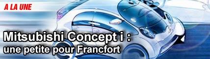 Mitsubishi Concept i : une petite pour Francfort