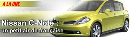 Nissan C-Note : un petit air de française