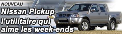 Nissan Pickup, l'utilitaire qui aime les week-ends