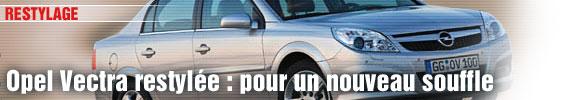 Opel Vectra restylée : pour un nouveau souffle