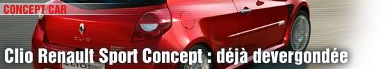 Renault Clio Sport Concept : déjà devergondée