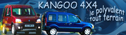 Kangoo 4x4, le polyvalent tout-terrain