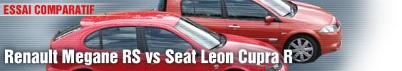 Essai comparatif/ Renault Megane RS vs Seat Léon Cupra R : duel au sommet