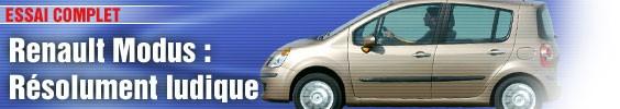 Essai/ Renault Modus, résolument ludique
