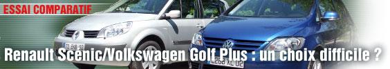 Essai Comparatif/ Renault Scénic/Volkswagen Golf Plus : un choix difficile ?