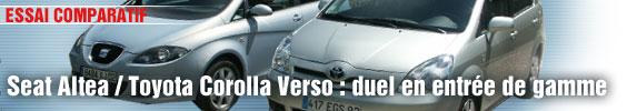 Essai Comparatif :Seat Altea/Toyota Corolla Verso : duel en entrée de gamme