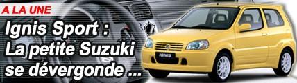 Suzuki Ignis Sport : la sage Ignis se dévergonde