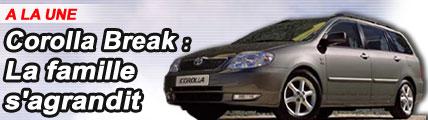 Corolla break : la famille s'agrandit
