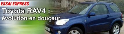 Essai/ Toyota RAV 4 : évolution en douceur