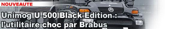Unimog U 500 Black Edition : l'utilitaire choc par Brabus