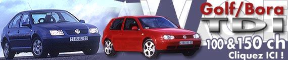 VW Golf & Bora: deux TDI gonflés !