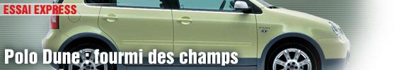 Essai Express/ VW Polo Dune : fourmi des champs