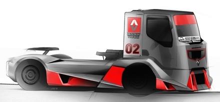 renault trucks racing le futur camion de course. Black Bedroom Furniture Sets. Home Design Ideas