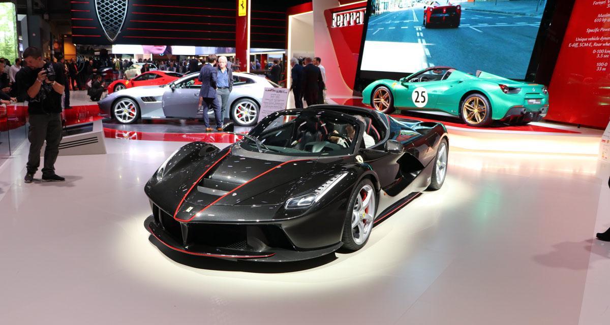Mondial de l'Auto 2016 : Ferrari LaFerrari Aperta