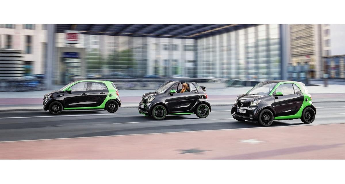 Mondial de l'Auto 2016 : Smart Fortwo et Forfour Electric Drive
