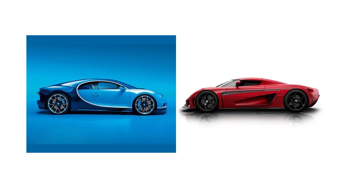 Bugatti Chiron contre Koenigsegg Regera : le match des hypercars