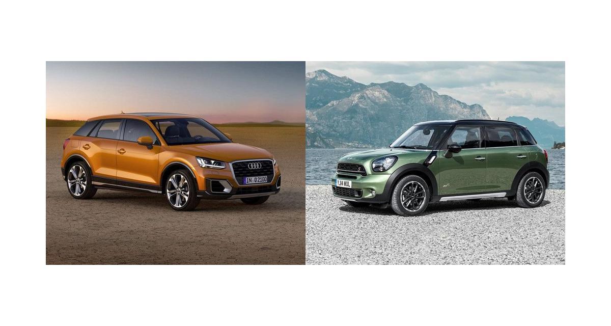 Audi Q2 contre Mini Countryman : premier duel