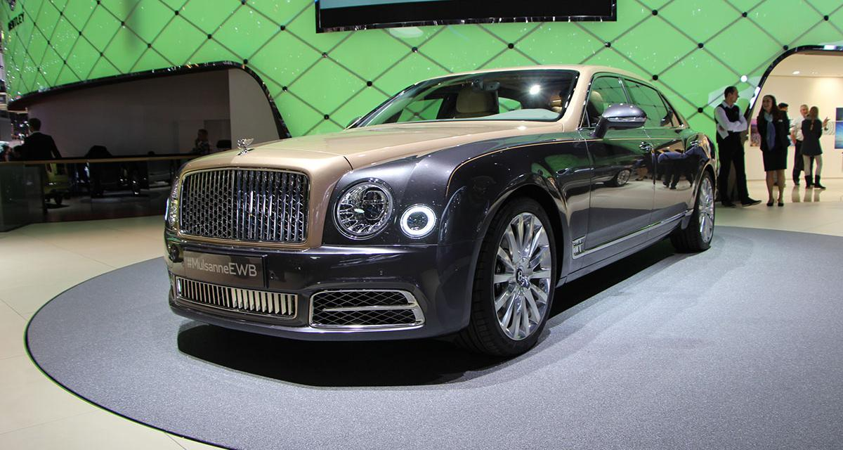 Genève 2016 en direct : la Bentley Mulsanne restylée