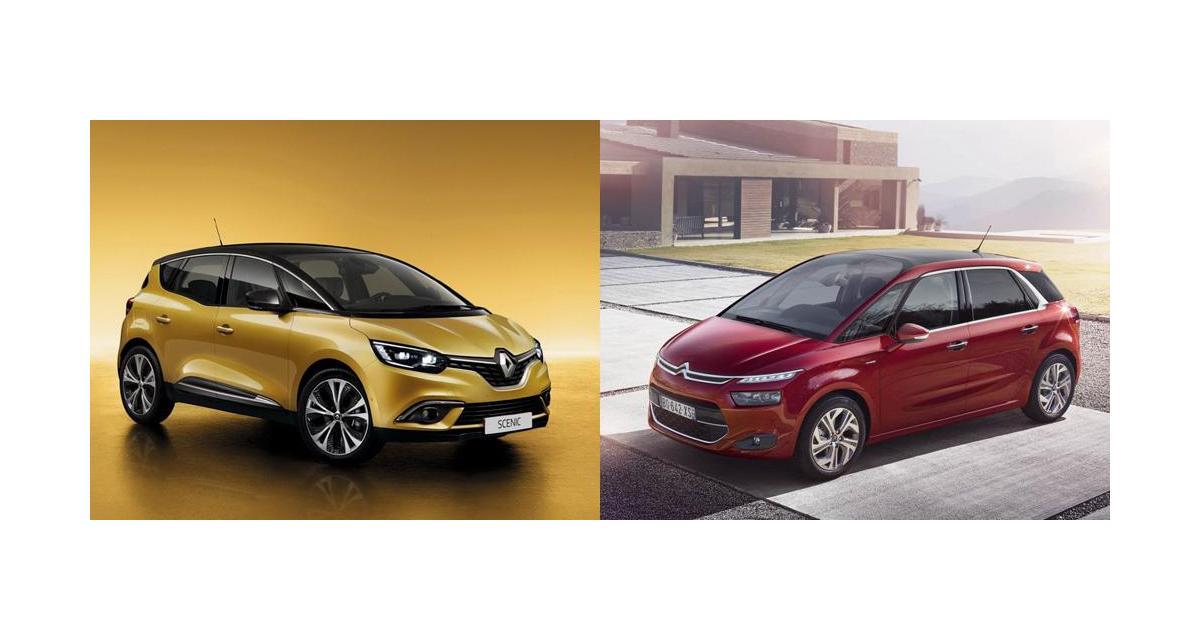 Renault Scénic 4 contre Citroën C4 Picasso : premier duel