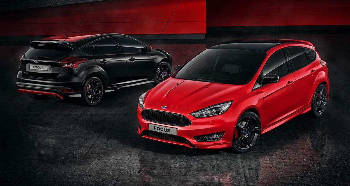 Un plumage sportif pour les Ford Focus Red et Black Edition
