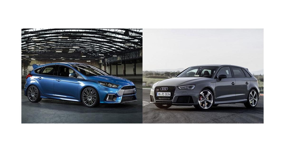 Ford Focus RS vs Audi RS3 : le match avant l'heure