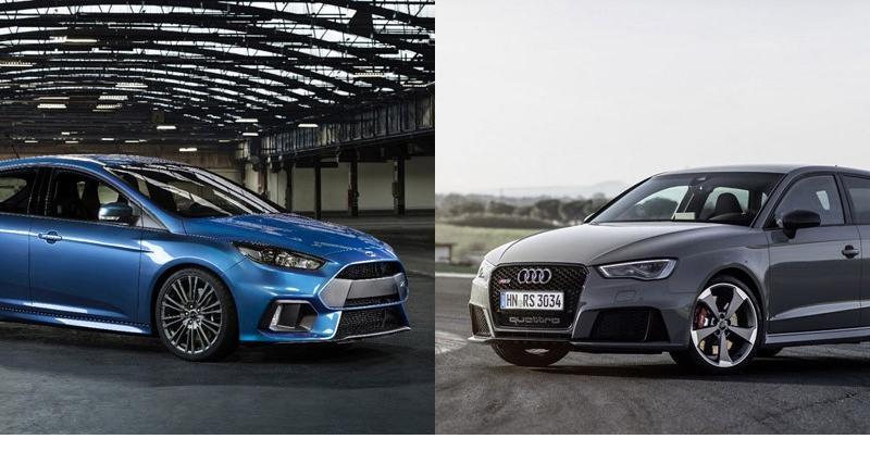 Ford Focus RS vs Audi RS3 : le match avant l'heure