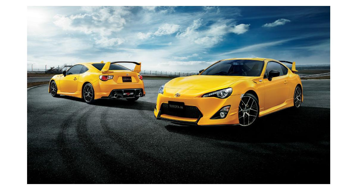 Toyota GT86 Yellow Limited : force jaune