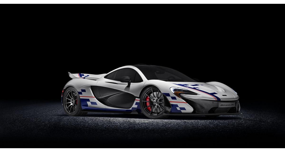 Une McLaren P1 aux couleurs d'Alain Prost