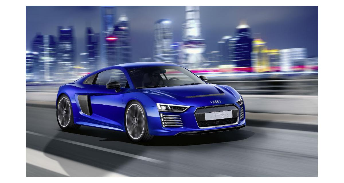 audi r8 e tron une supercar lectrique semi autonome. Black Bedroom Furniture Sets. Home Design Ideas