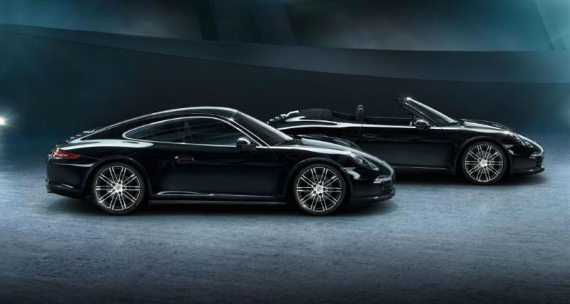 Porsche Boxster et 911 Carrera Black Edition: une nouvelle série spéciale