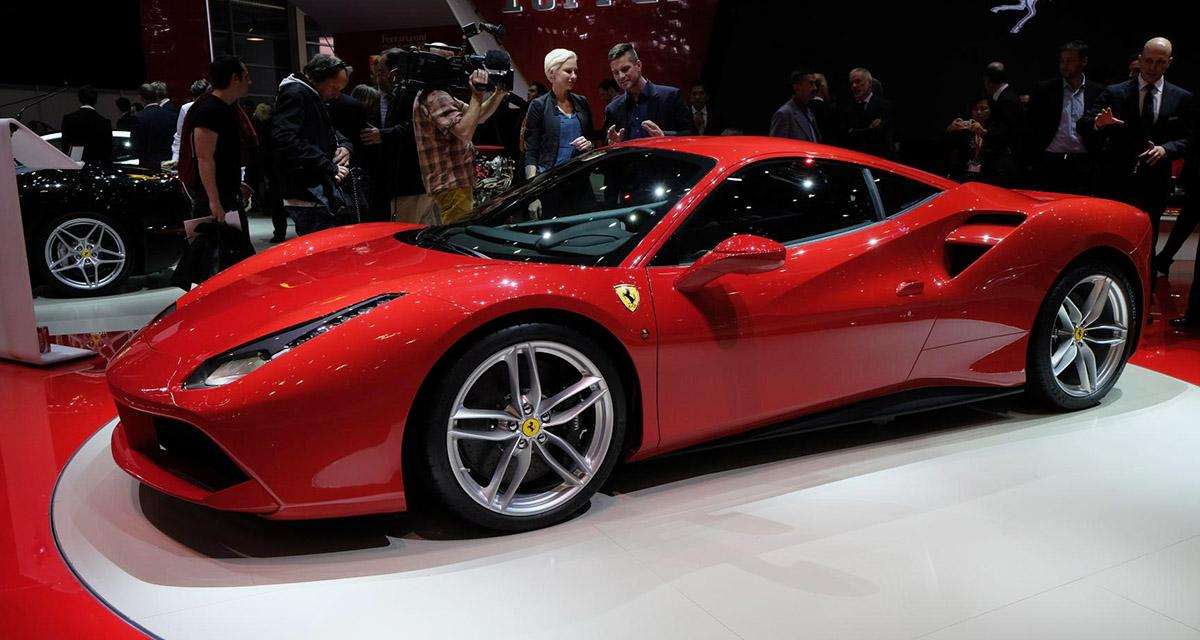 salon de gen ve 2015 ferrari 488 gtb. Black Bedroom Furniture Sets. Home Design Ideas