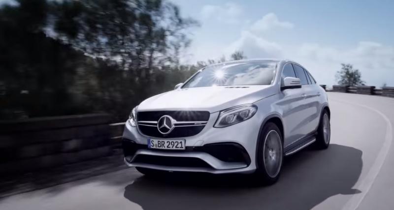 Vidéo : le Mercedes GLE Coupé 63 AMG en action