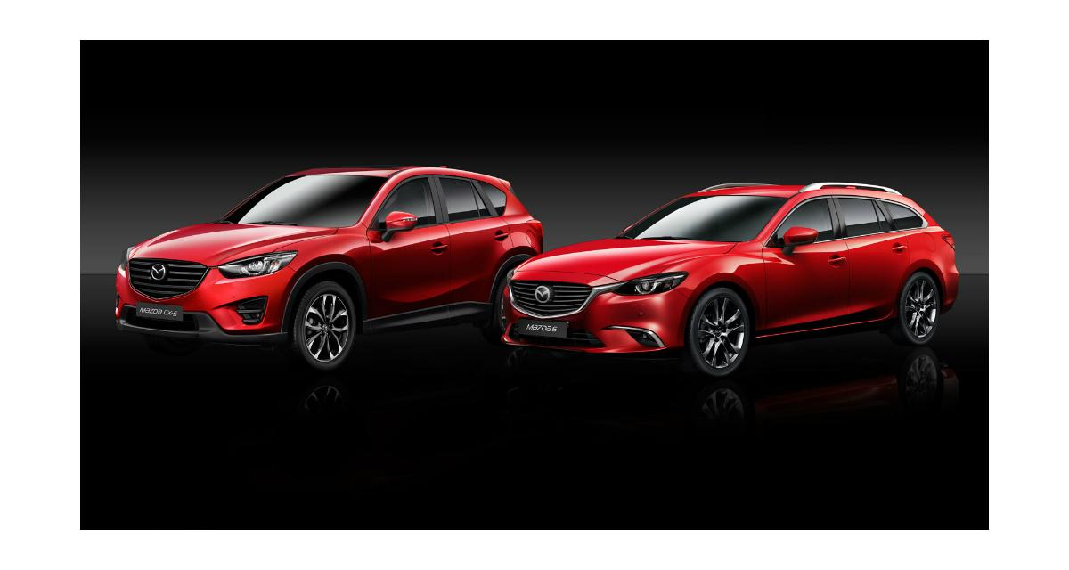Les Mazda6 et CX-5 restylés pour Genève 2015