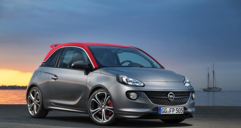 L'Opel Adam S proposée à partir de 18 900 €