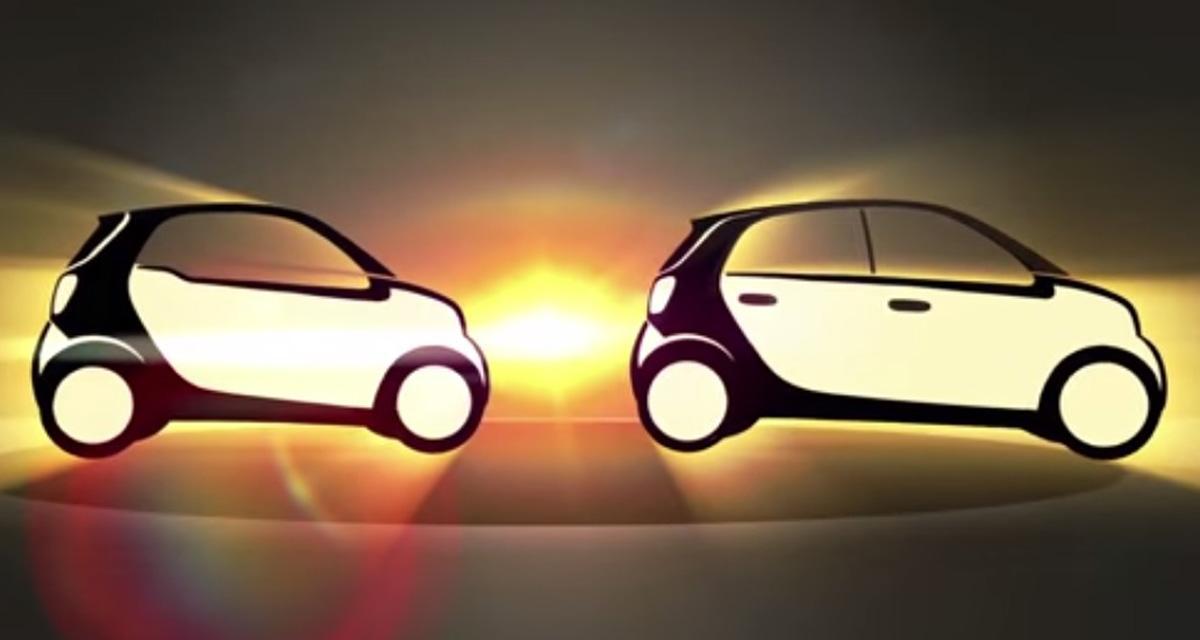 Futures Smart Fortwo et Forfour : leur profil en clair