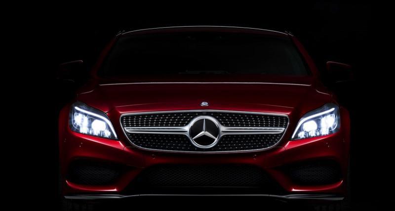L'éclairage de la prochaine Mercedes CLS en détail