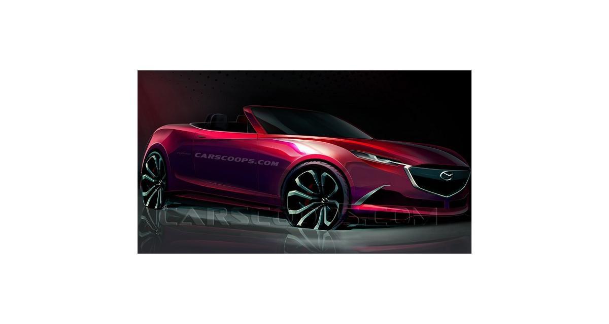 La future Mazda MX-5 en croquis