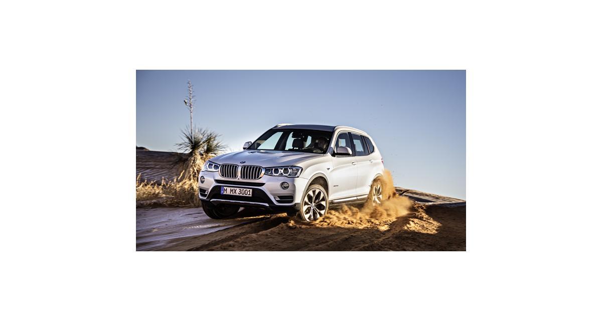 BMW X3 : relooking et nouveaux Diesel pour 2014