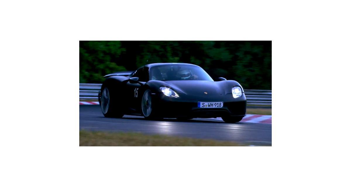 Porsche 918 Spyder : le chrono sur le Ring vu par Michelin