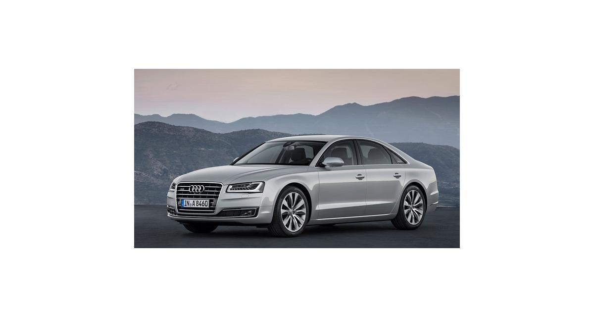 Audi A8 restylée : riposte graduée (Francfort 2013)