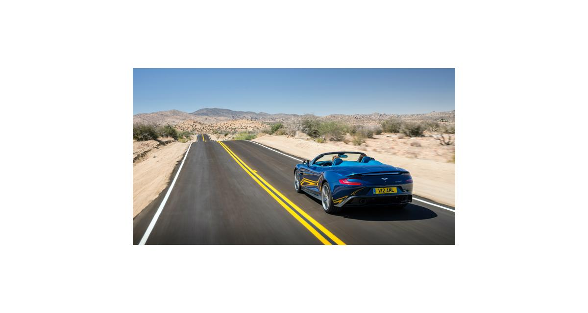 Aston Martin Vanquish Volante : 573 chevaux à l'air libre