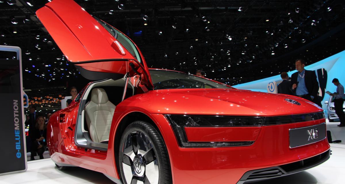 Volkswagen XL1à Genève : les photos du modèle hybride diesel-électricité
