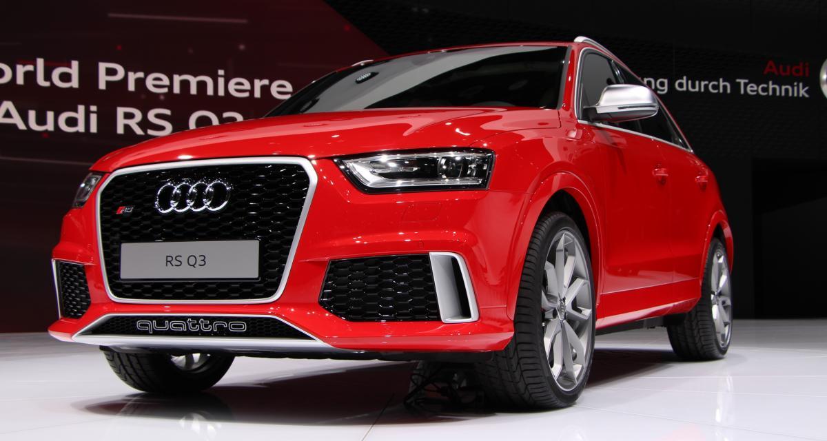 Audi RS Q3 : les photos du SUV allemand en direct de Genève