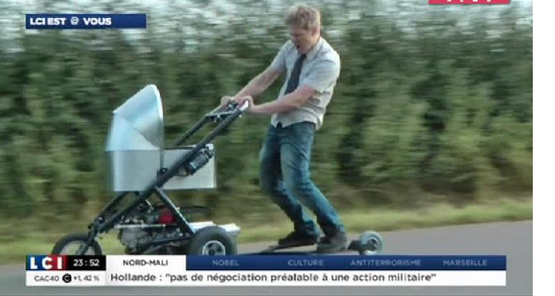 Zapping Autonews : Gad Elmaleh en Twizy, poussette motorisée et voitures amphibies