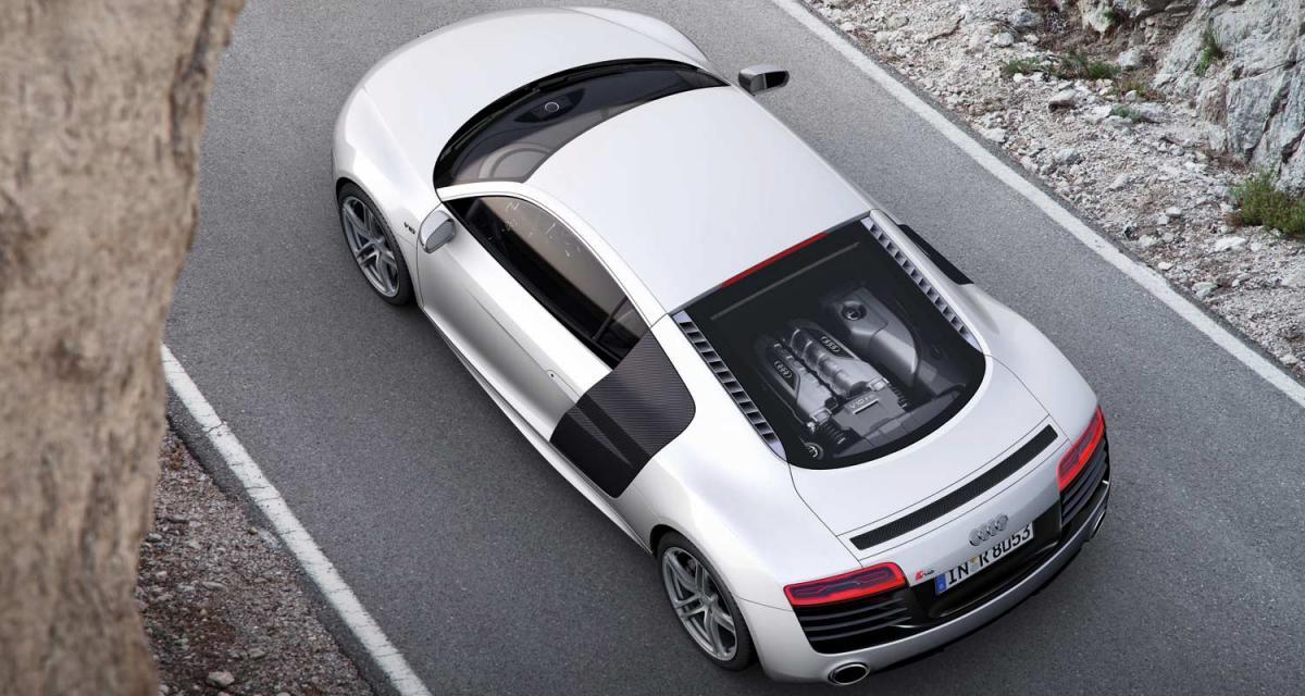 Audi R8 restylée : encore plus efficace